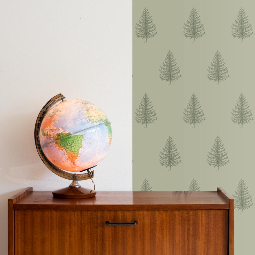 afternoon stories duurzaam behang dennenboom