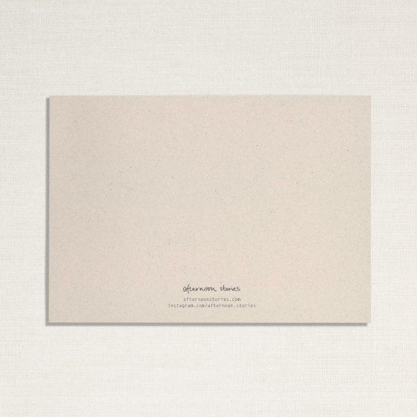 achterkant van duurzame kaart in lichte kleur