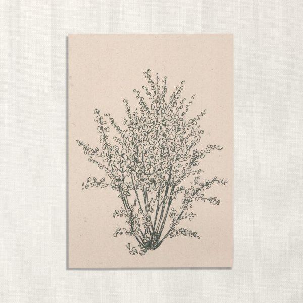duurzame kaart met hazelnoot boom op lichte achtergrond